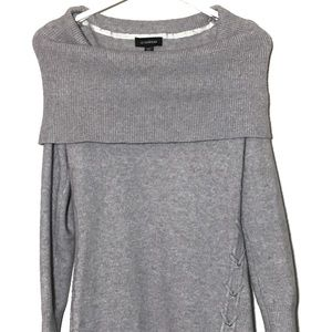 Le Chateau Sweater Dress Off-Shoulder Grey Size XS